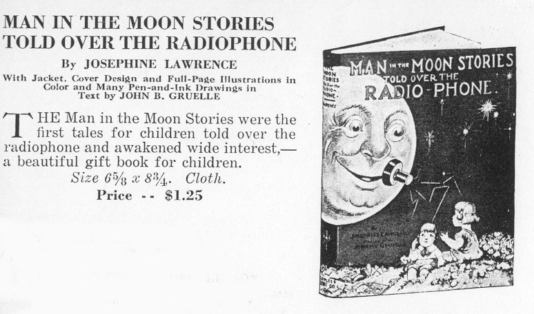ad for Man in the Moon Stories